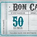 Chèque cadeau 50€ boutique