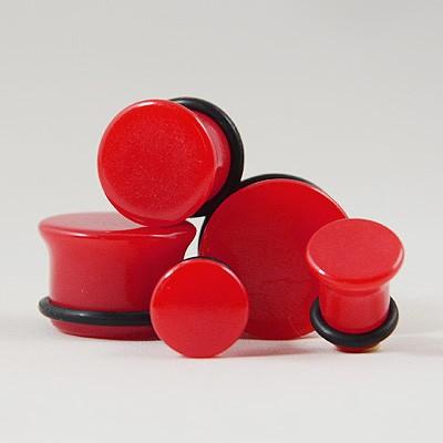Plug acrylique néon rouge