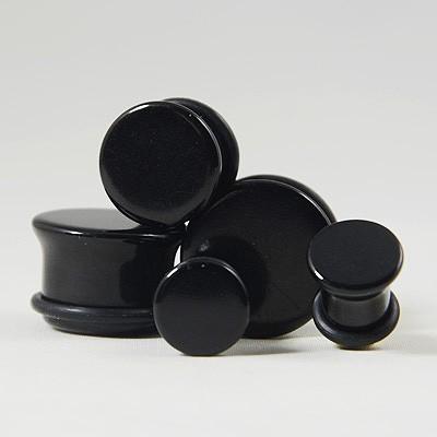 Plug acrylique néon noir